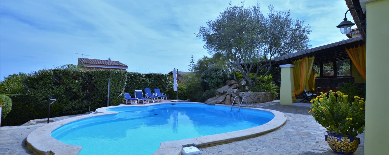 Panoramica villa a Monte Contros